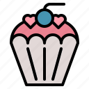 bakery, cake, cup, dessert, muffin, sweet icon
