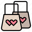 bag, shopping, valentine, wedding