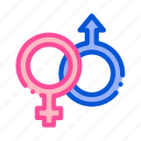 female, gender, male, sign, wedding icon