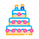 cake, celebration, wedding icon