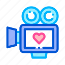 camera, ceremony, video, wedding icon