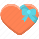 gift, heart, love icon