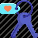 accommodation, hotel, keys icon