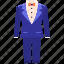 suit, tuxedo icon