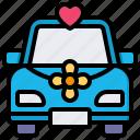 car, transportation, vehicle, wedding car
