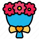 flower, bouquet, plant, floral, rose, valentine