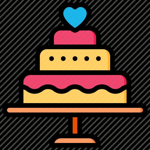 Wedding, cake, love, valentine, romance, food icon - Download on Iconfinder