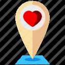 wedding, location, map, pin