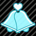 bell, ceremony, love, married, valentine, wedding