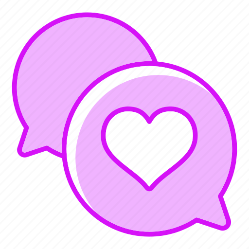 bouble, chat, heart, message icon