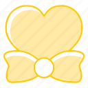 bow, heart, love, tie icon