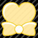 bow, heart, love, tie