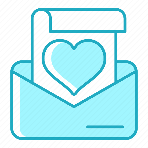 correspondence, love, mail, message icon