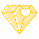 award, diamond, gemstone, gift, stone icon