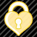 heart, lock, love, paris, wedding icon