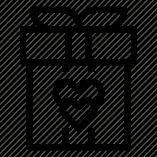 Box, gift, heart, love, present, valentines, wedding icon - Download on Iconfinder
