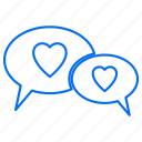 chat, love, marriage, message, wedding icon