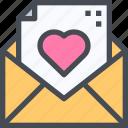 invitation, invite, mail, message, wedding icon