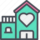 bridal, build, building, home, house icon