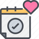 check, day, event, planning, wedding icon