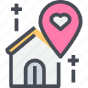 home, location, love, place, wedding icon