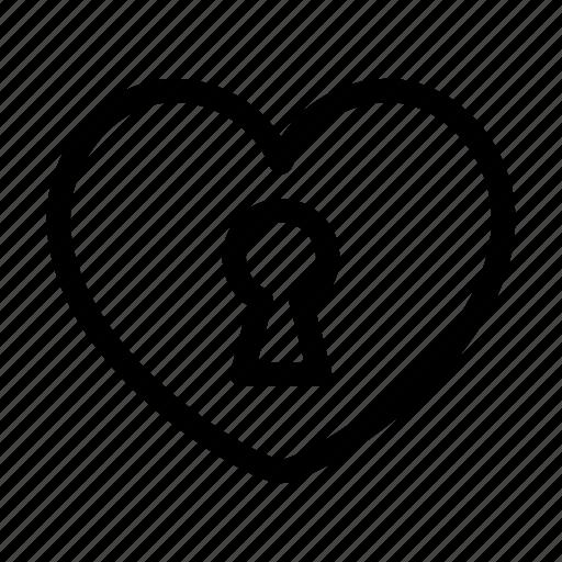 heart, lock, locked, love, padlock, privacy, valentines icon