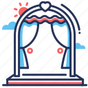 arch, ceremony, decoration, wedding icon