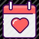 calendar, date, married, valentine, wedding icon