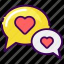 chat, convertation, married, speak, valentine, wedding icon