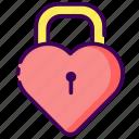 key, love, married, padlock, valentine, wedding icon
