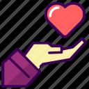 gift, love, married, valentine, wedding icon