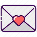letter, married, message, valentine, wedding icon