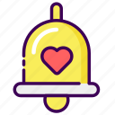 bell, campane, married, notification, valentine, wedding icon