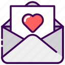 email, married, message, read, valentine, wedding icon