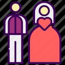 love, married, valentine, wedding icon
