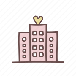 architecture, building, construction, estate, hotel, property, real icon