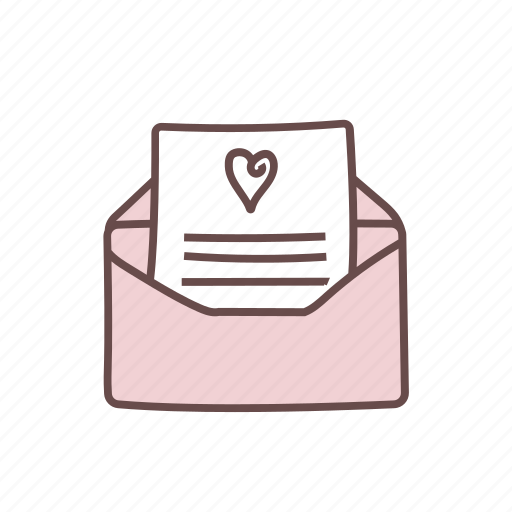 card, envelope, invitation, invite, wedding icon