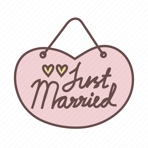 just, married, sign, signage icon