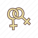female, homosexual, lesbian, lgbt, sign, symbol, women icon