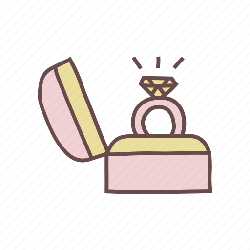 marriage, proposal, ring icon