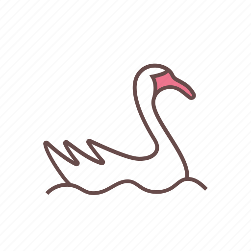 animal, goose, swan icon