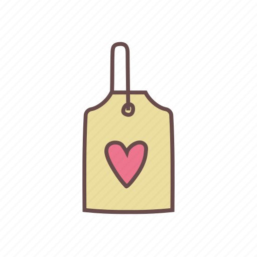 badge, heart, label, love, tag icon