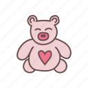 bear, gift, love, teddy, toy icon