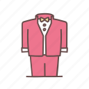 attire, formal, groom, suit, tux, tuxedo, wedding icon