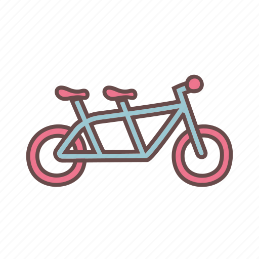 bike, cycling, double seater, wedding icon