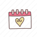 calendar, date, day, save, schedule, wedding icon