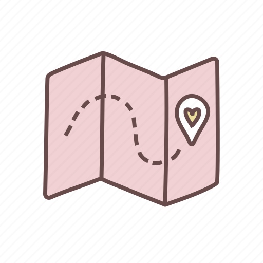 direction, gps, location, map, navigation, pointer, wedding icon