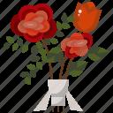 blossom, botanical, bouquet, flower bouquet, flowers, roses icon