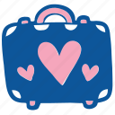 bag, baggage, honeymoon, suitcase, travel, vacation, wedding icon