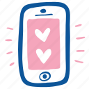 app, heart, love, mobile, smartphone, valentine, wedding icon
